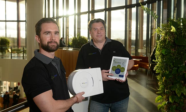 Sponsored feature on Bristol BlueGreen, which has created a device to save energy (and cut your bills) by controlling the voltage level of the electricity in your home. They also have an app to measure usage. Steve Pilling - head of installation Rick Smith - chief executive